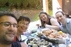 25-05 - Petit plateau de fruits de mer breton avec nos amis Belges.... miammmmmm